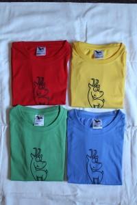 barevná trička kamzík